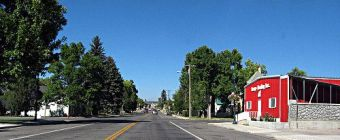 The main street in Fairview Utah