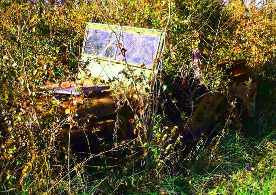 Abandoned jeep near your property.