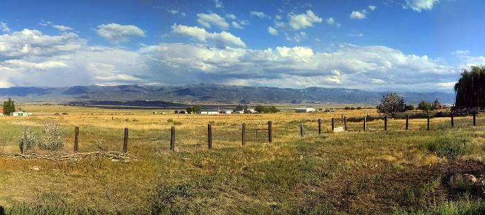 A view from Wales utah towards the quiet mountains in Sanpete. A great place to buy a home in 2016.