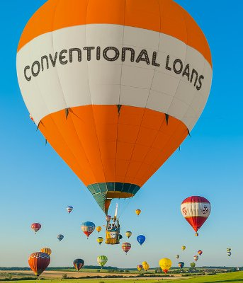 A balloon with Conventional Loans on it.