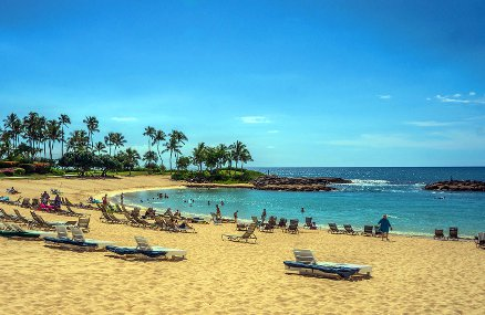 Relaxing at a beach resort while doing a remote closing on your new home.