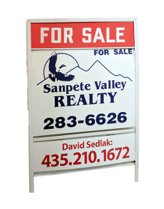 David Sedlak's for sale sign for as a seller's agent.