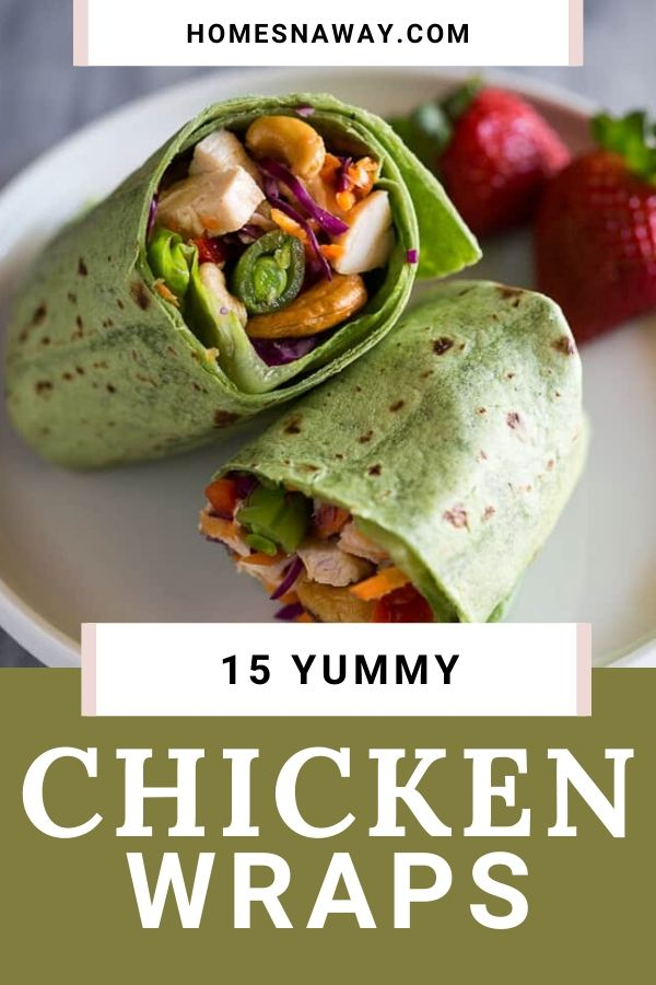 15 Healthy, Yummy Chicken Wraps