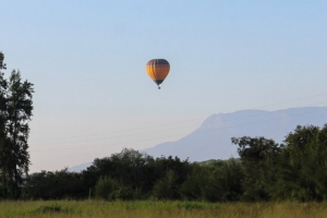 Hot air balloon near Blyde River Canyon in South Africa