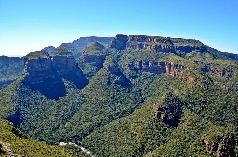 Three Rondavels aan de Panoramaroute in Zuid-Afrika