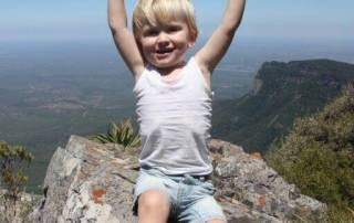 With kids at the Blyde River Canyon in South Africa