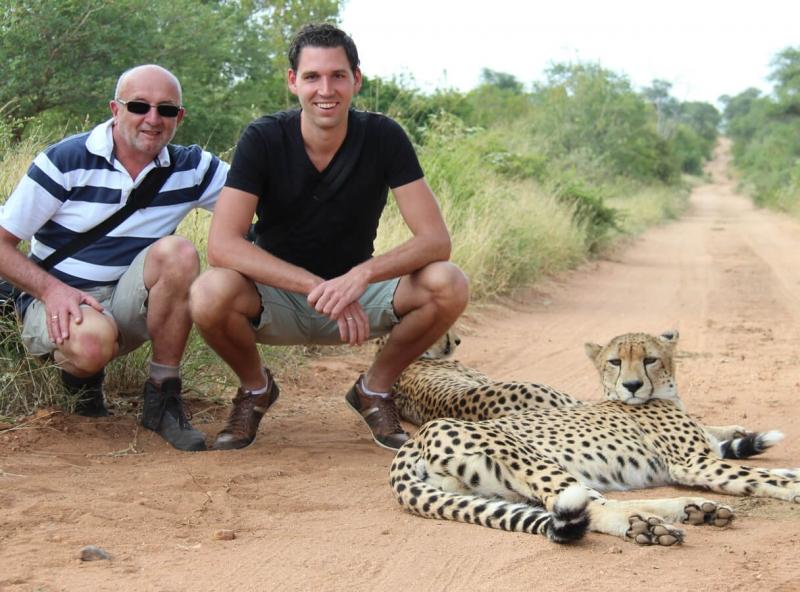 wandelsafari met cheetas - Zuid-Afrika