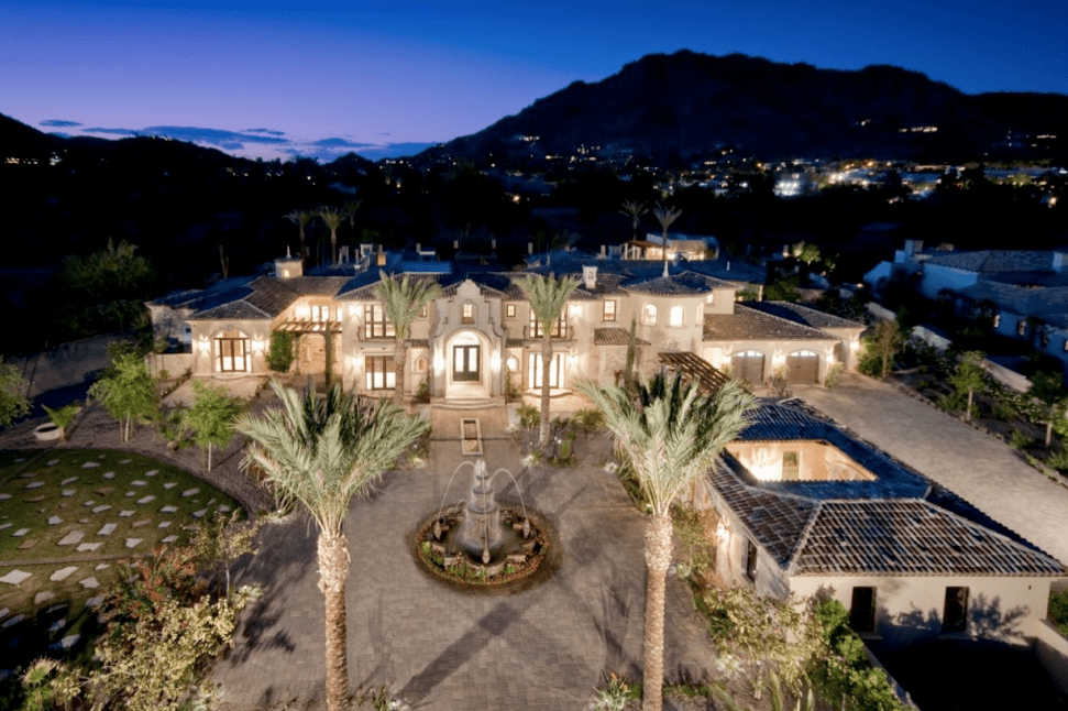 Country Club Estate In Paradise Valley Homes Of The Rich