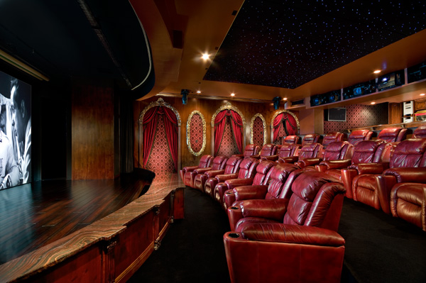 More Pics Of Lavish Home Theaters Homes Of The Rich