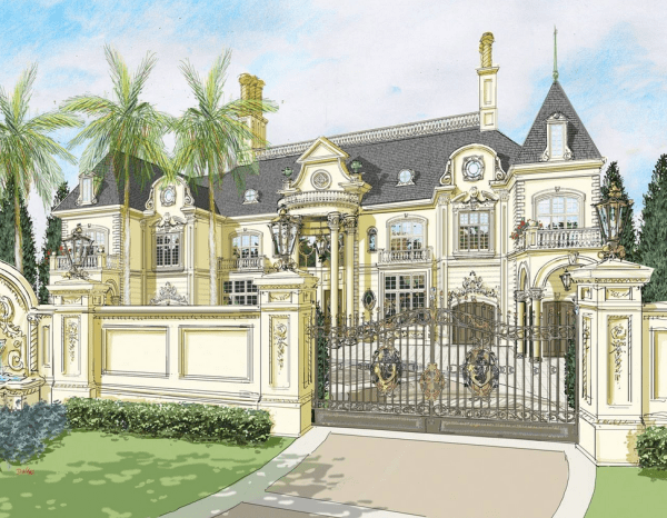 pretty french chateau house plans pictures best design - HD 1389×1080