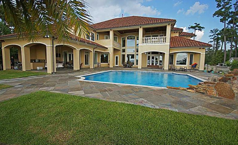 62 Million Mediterranean Lakefront Mansion In Lake Charles LA Homes Of The Rich