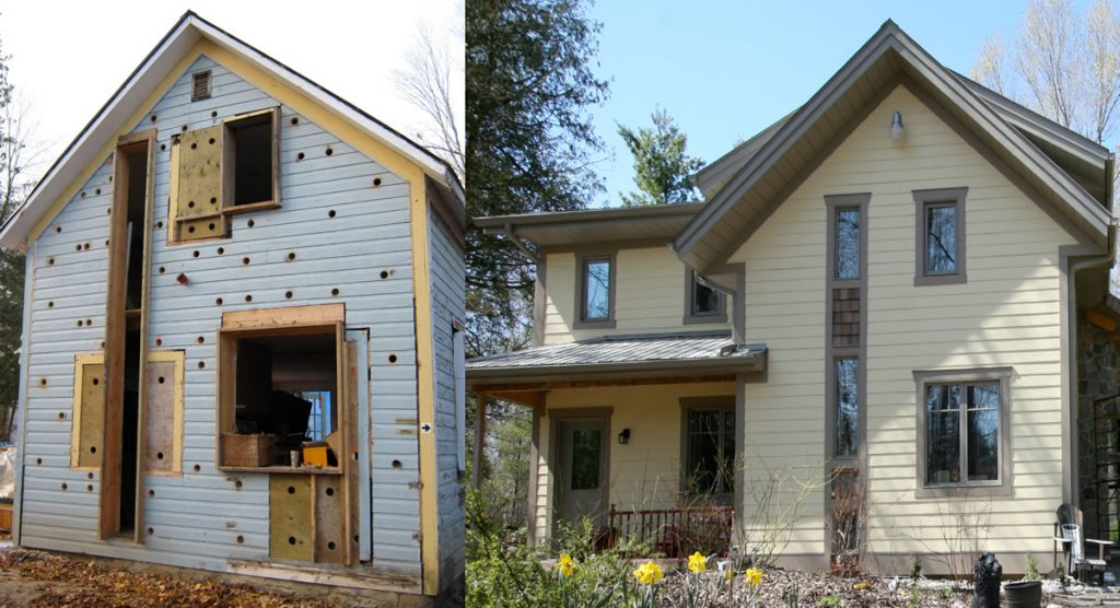 Before and After shots of LEED Canada certified home