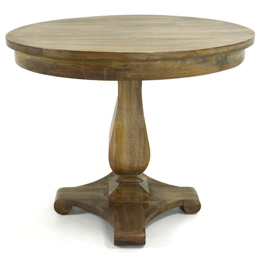 Elgin 36 Quot Pedestal Table Salvaged Gray Home Source
