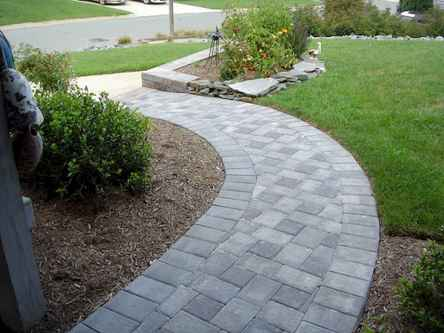 Affordable front yard walkway landscaping ideas (65)