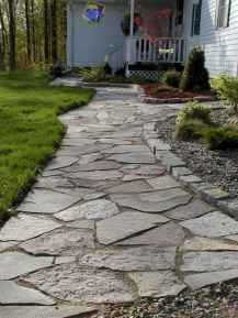 Affordable front yard walkway landscaping ideas (81)