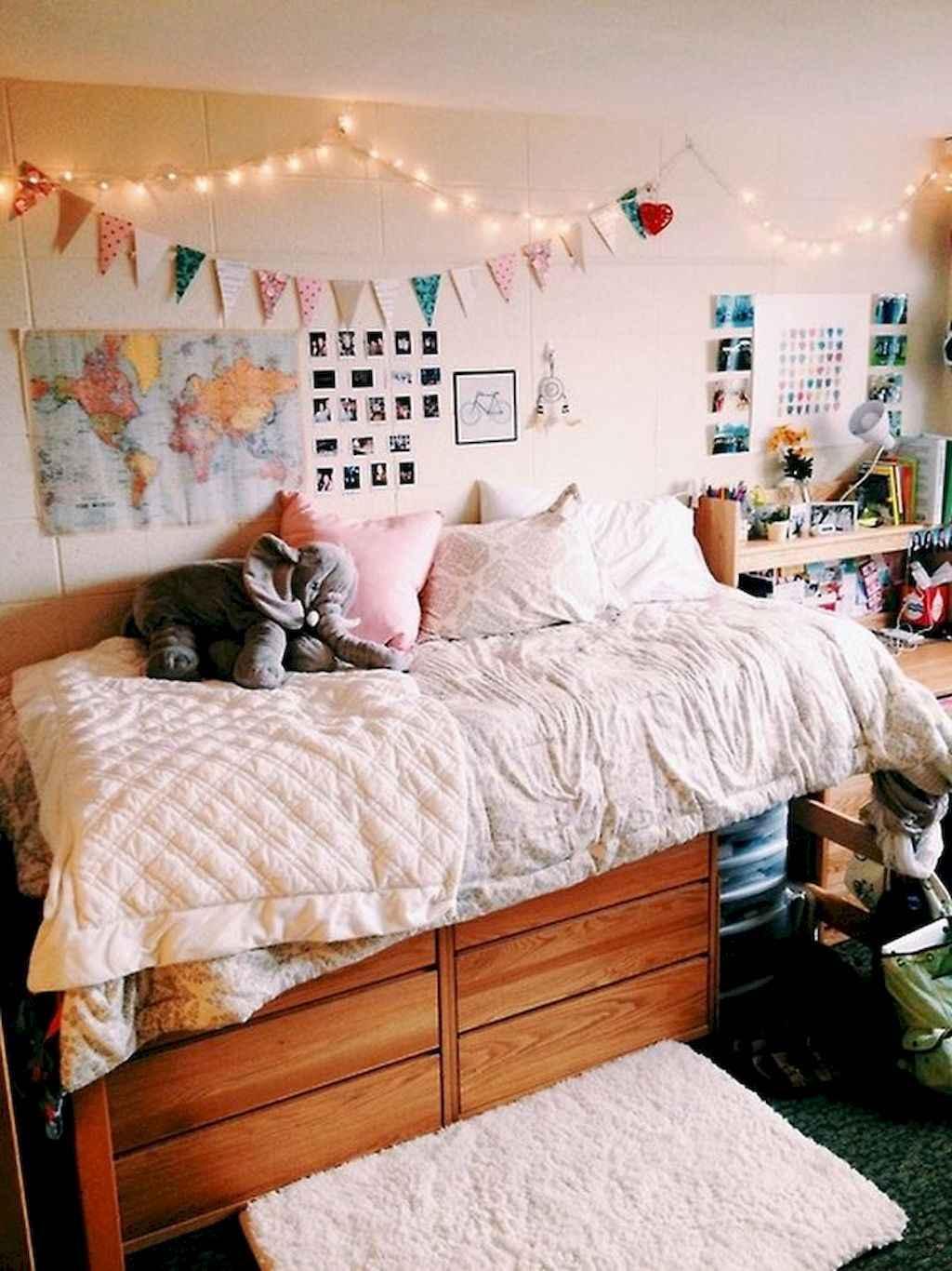 Cute diy dorm room decorating ideas on a budget (29)