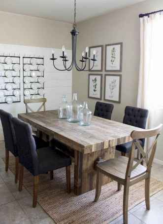 Lasting farmhouse dining room table and decorating ideas (13)