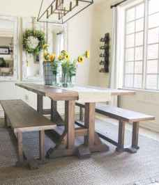 Lasting farmhouse dining room table and decorating ideas (18)