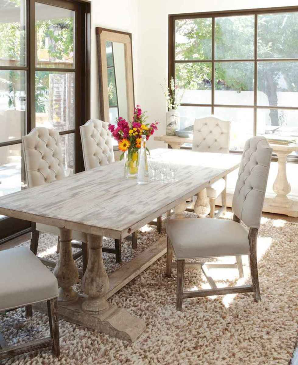 Lasting farmhouse dining room table and decorating ideas (30)