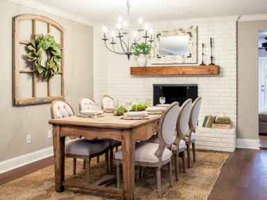 Lasting farmhouse dining room table and decorating ideas (31)