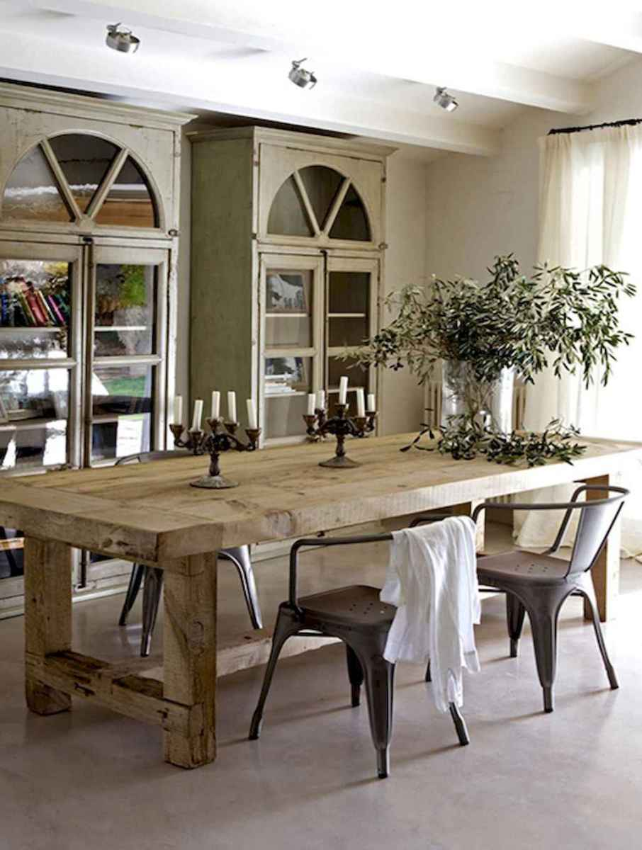Lasting farmhouse dining room table and decorating ideas (42)