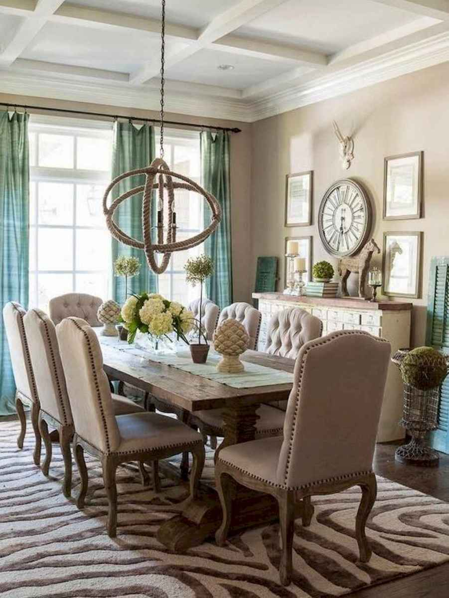 Beautiful french country dining room design and decor ideas (48)