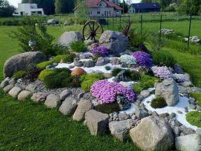 Beautiful front yard rock garden landscaping ideas (55)