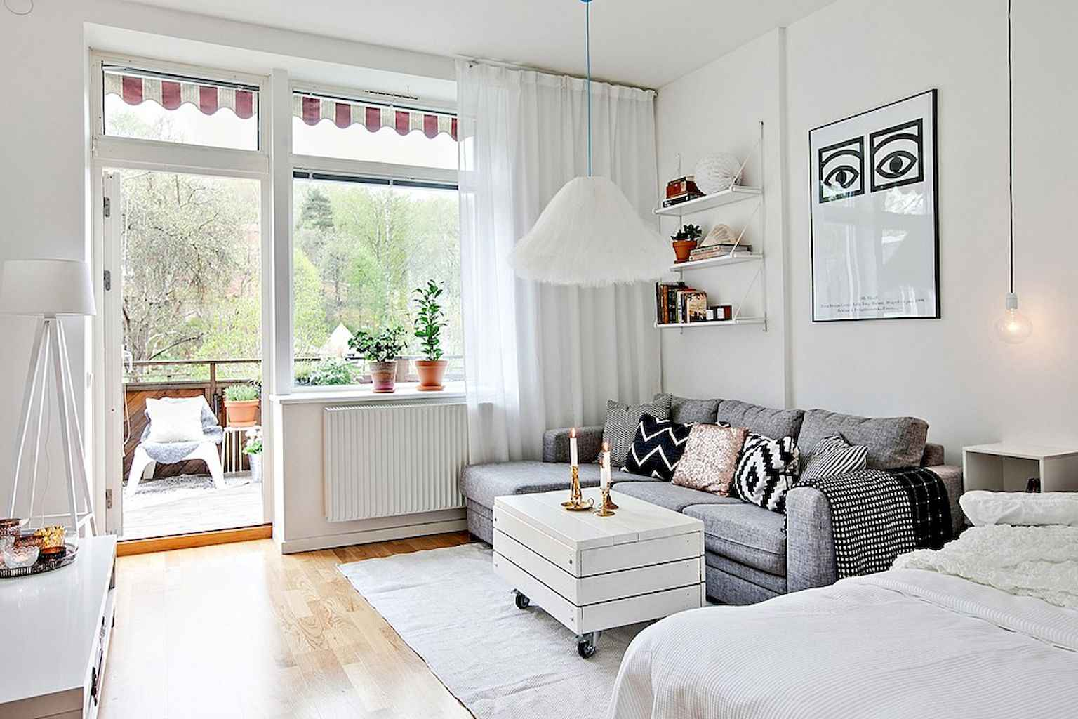 Cool small apartment decorating ideas on a budget (51)