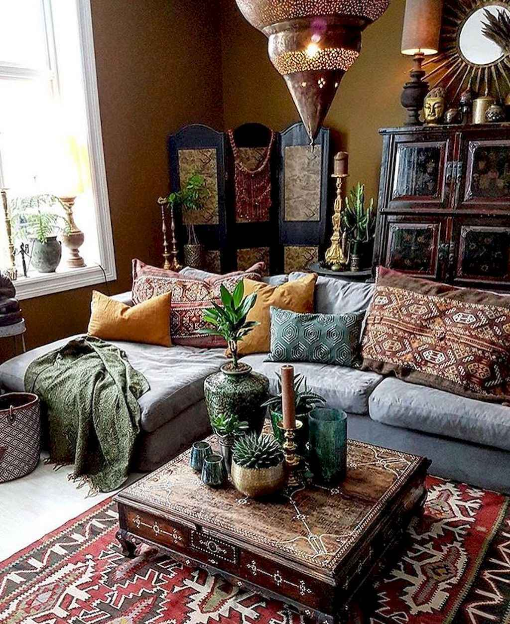 Cozy Bohemian Style Living Room Decorating Ideas (25