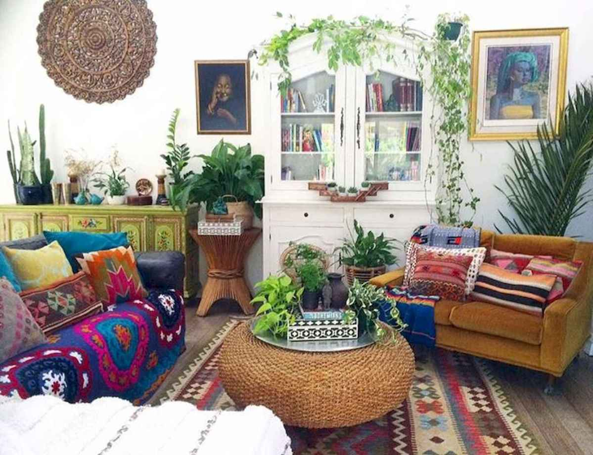Cozy bohemian style living room decorating ideas (57 ...