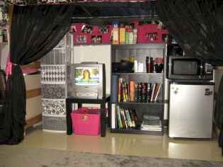 Creative dorm room storage organization ideas on a budget (43)