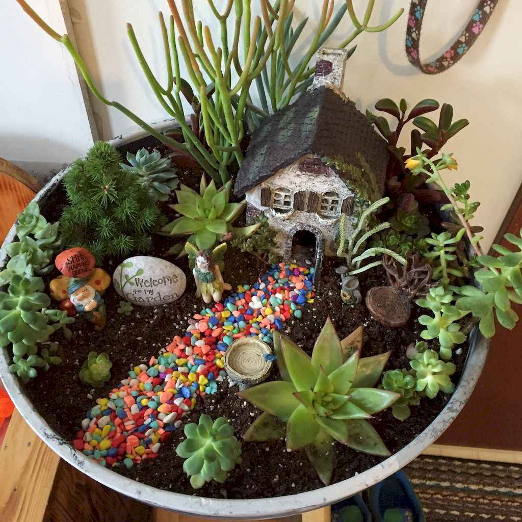 Magnificent diy fairy garden ideas (20)