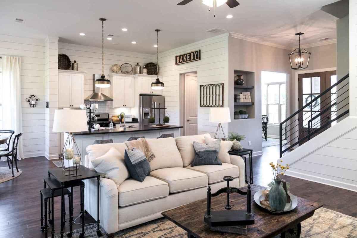 Rustic farmhouse living room design and decor ideas (16)