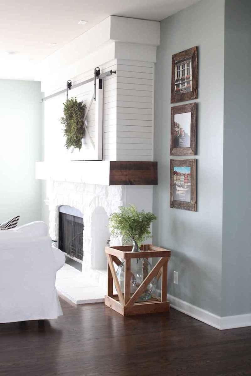 Rustic farmhouse living room design and decor ideas (18)