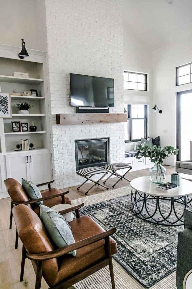 Rustic farmhouse living room design and decor ideas (32)