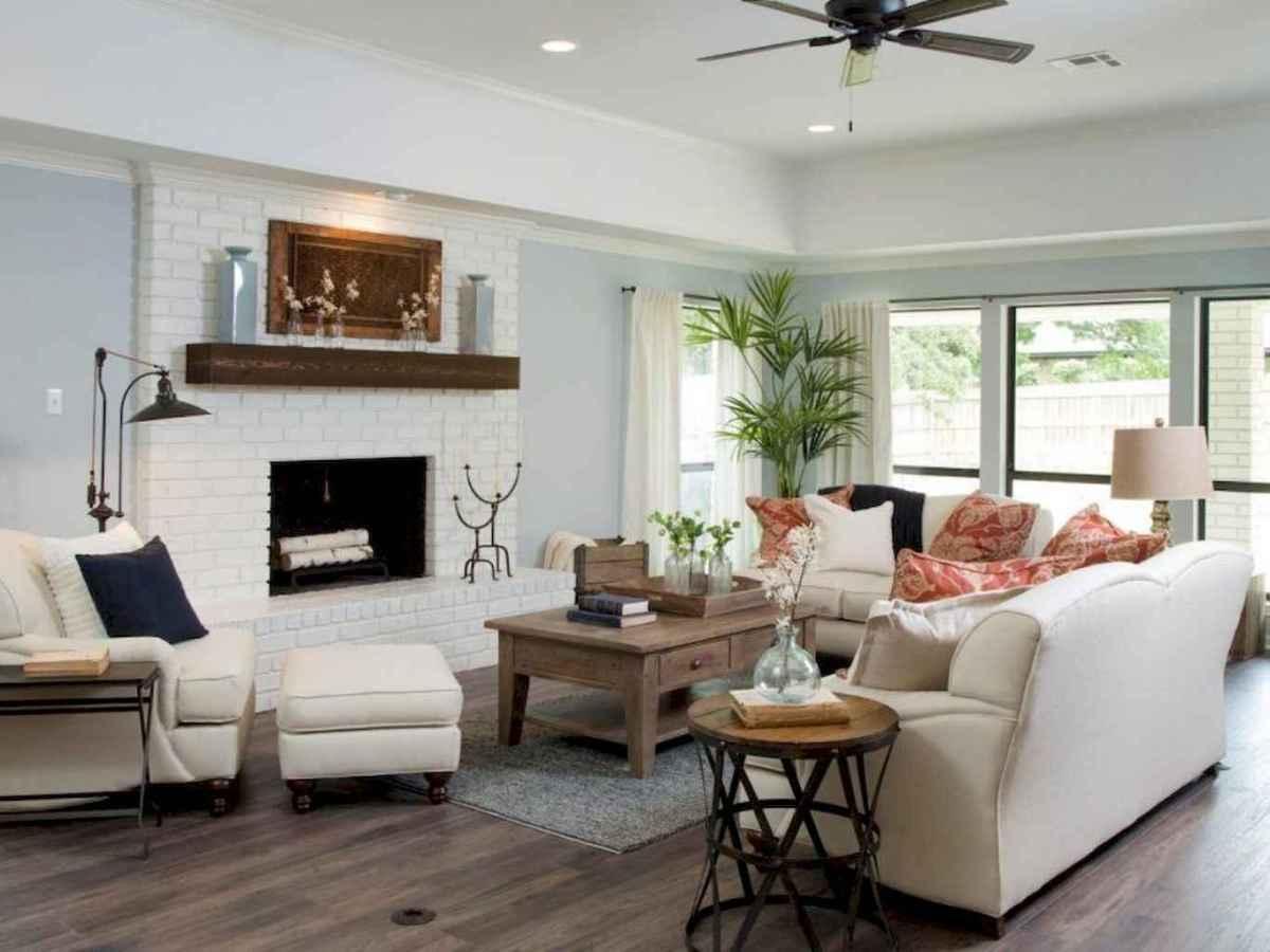 Rustic farmhouse living room design and decor ideas (45)