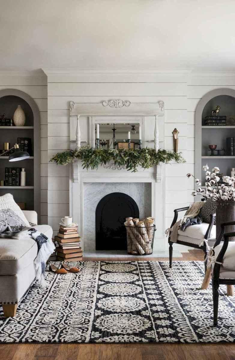 Rustic farmhouse living room design and decor ideas (9)