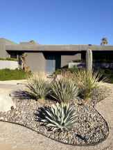 Simple clean modern front yard landscaping ideas (58)