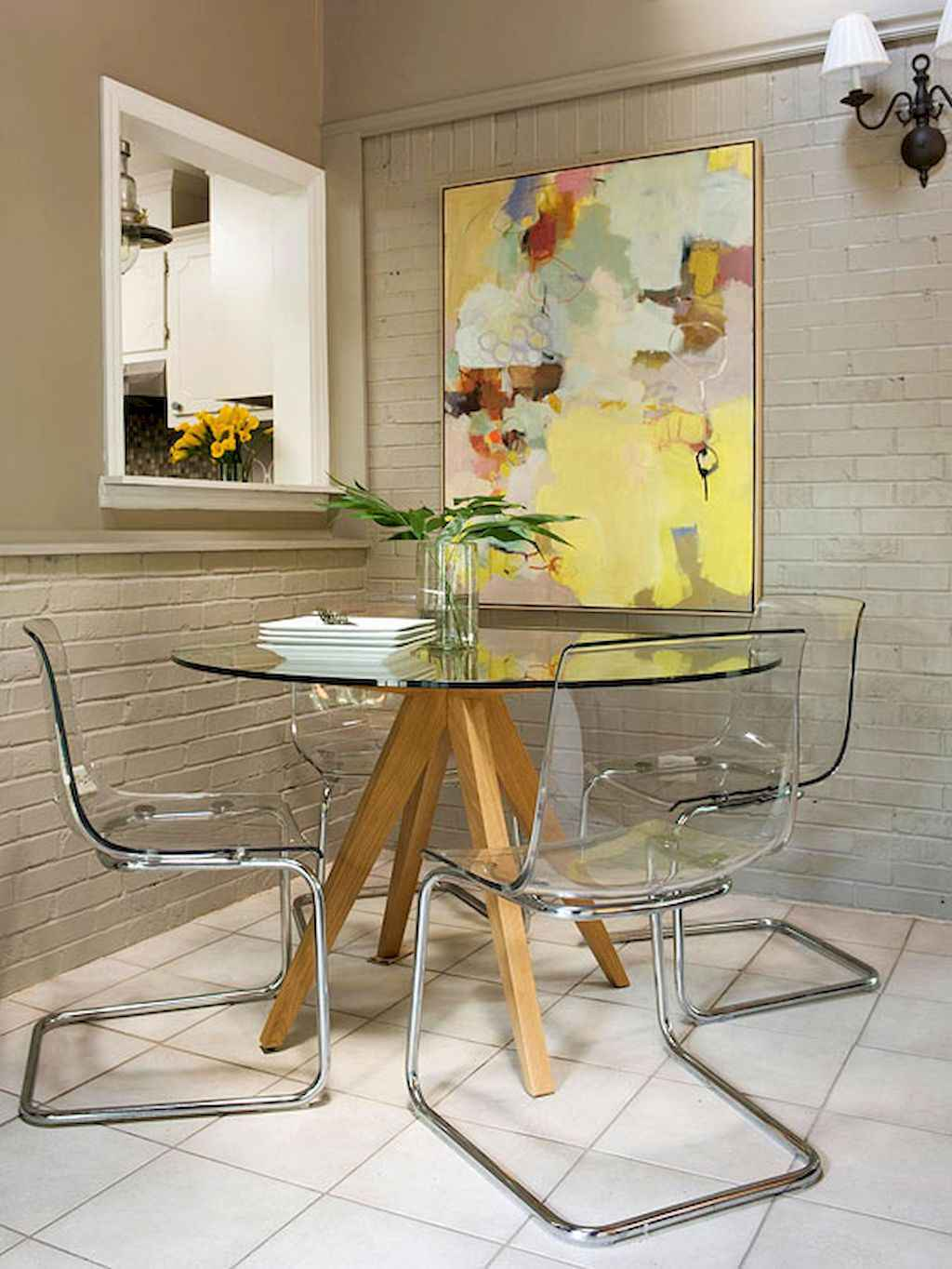 Small dining room table and chair ideas on a budget (21)