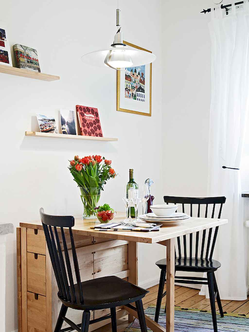 Small dining room table and chair ideas on a budget (43)