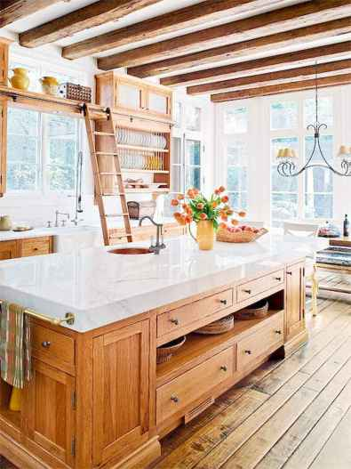 Stylish and inspired farmhouse kitchen island ideas and designs (32)