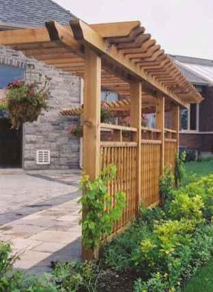 Wooden privacy fence patio & garden ideas (1)