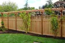 Wooden privacy fence patio & garden ideas (15)