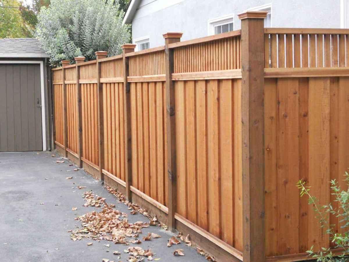 Wooden privacy fence patio & garden ideas (18)