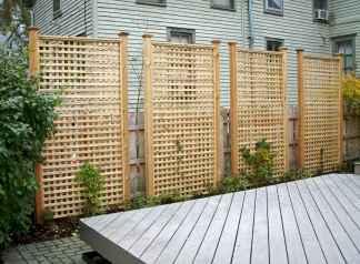 Wooden privacy fence patio & garden ideas (21)