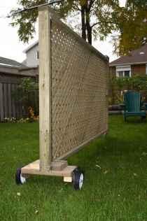 Wooden privacy fence patio & garden ideas (43)