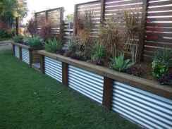 Wooden privacy fence patio & garden ideas (51)
