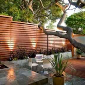 Wooden privacy fence patio & garden ideas (53)