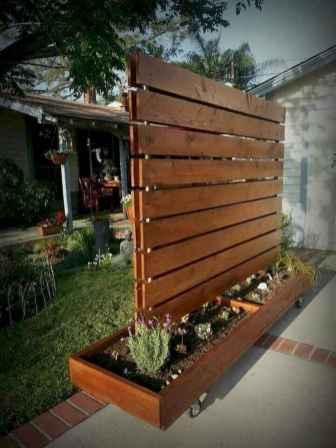 Wooden privacy fence patio & garden ideas (55)