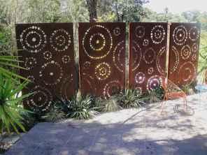 Wooden privacy fence patio & garden ideas (57)
